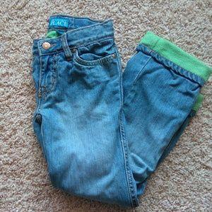 Adjustable waist warm jeans sz 6 PLACE